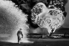 Sebastião Salgado lança livro com fotos do Kuwait em chamas