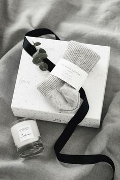 Christmas: Gifts for her. Our Cosy Nights Hamper is perfect for a winter's evening indoors. Filled with our sumptuously soft Cashmere Bed Socks and a comforting Cashmere Candle, this indulgent duo will cocoon you with cosiness. We think it's the perfect partner to a night of hibernation. What's more, we've already beautifully wrapped this gift, so that's one more thing to tick off your list. Thoughtful Gifts For Her, Special Gifts For Her, Bed Socks, The White Company, White Aesthetic, Hamper, Scented Candles, Just Love, Cosy