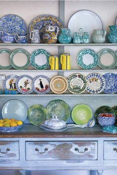 I think I'll start collecting ridiculously awesome plates on my travels. Then, one day, I'll have a wall of plates which I'll probably never use. It'll still be awesome though. @ Home Renovation Ideas