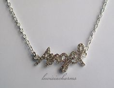 NECKLACE 'Rhinestone Angel'. NEW