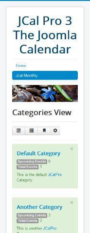 Joomla 3 Bootstrap and the responsive calendar
