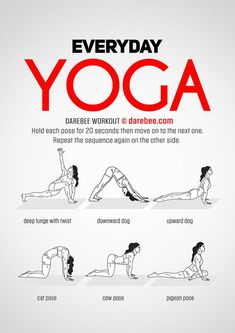 Yoga training to lose weight and belly fat - - Everyday Yoga Workout by DAREBEE Practice Yoga to Lose Weight - Yoga Fitness. Introducing a breakthrough program that melts away flab and reshapes your body in as little as one hour a week! Post Workout Stretches, Morning Yoga Workouts, Yoga Exercises, Morning Stretches, Fitness Exercises, Cardio Exercises At Home, Posture Stretches, Daily Stretches, Morning Workout Routine