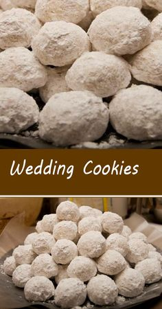 Wedding Cookies Easy Cookie Recipes, Cookie Desserts, Cupcake Cookies, Just Desserts, Baking Recipes, Pie Recipes, Yummy Recipes, New Dessert Recipe, Dessert Recipes