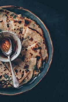 Chinese Scallion Pancakes (Cong You Bing) or also known as Chinese Spring Onion Pancakes - A Vegan Recipe by Kati of black.white.vivid. - food photography, food styling, moody food photography, Chinese recipe, Chinese cuisine, Vegan Chinese recipe