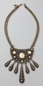 Use shape for necklace with different stones