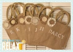 Burlap Tote Bag Personalized gift bag for Brides & Bridesmaids! by QueensBanners