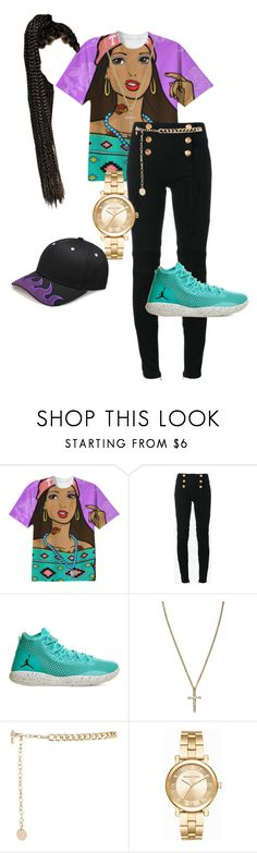 """Incrute"" by mulalexus ❤ liked on Polyvore featuring Balmain, NIKE, River Island and Michael Kors"