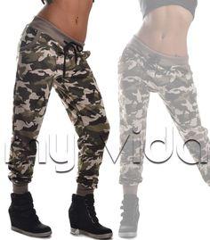 Pantalone tuta donna sport fitness mimetico militare camouflage P-Tuta12 in Abbigliamento e accessori, Donna: abbigliamento, Pantaloni | eBay