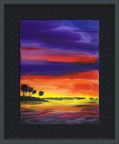 """""""Sunset Mangroves""""  Robert Wyland 2010"""