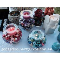 Clearly Creative Eclectic Trio. Order from jodeedoo.partylite.com .au