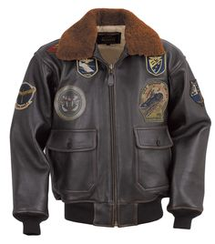 G-1 Wings of Gold Leather Bomber Jacket G1TG