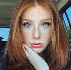 Perfection…hair, freckles, eyes.