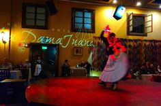 Private Dinner Buffet and Typical Peruvian Show in Lima Including Visit to Barranco District Discover the night of the bohemian district of Barranco by visiting one of the best restaurants and typical shows in Lima.You will be picked up at your hotel at 7:30pm and travel in an air-conditioned vehicle directly to Barranco, famous for being a traditional bohemian district in Lima.You will experience the historic and romantic Bridge of Sighs, the churches of the Barranco district...
