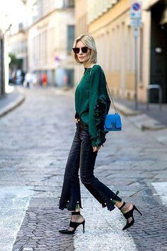 Os babados vem ocupando o street style com muita elegância. Confira os looks que separamos com a tendência certa para 2017.
