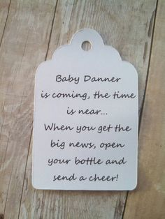 Baby is coming the time is near Tags  Gift Tags  by KendollMade
