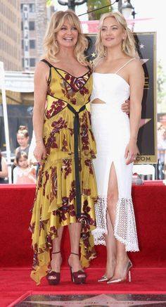 Goldie Hawn in Cinq A Sept and Kate Hudson in Jonathan Simkhai attend a Hollywood Walk of Fame ceremony. #bestdressed