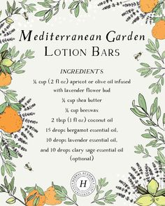 Did you catch the lotion bar tutorial a couple posts back? We thought it would be helpful to share this recipe with you right here on… Healing Herbs, Natural Healing, Medicinal Herbs, Homemade Beauty, Diy Beauty, Bergamot Essential Oil, Lotion Bars, Herbal Medicine, Natural Skin Care