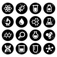 Chemical icons set on white