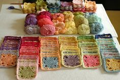Beautiful #crochet squares over on Serendipity Patch