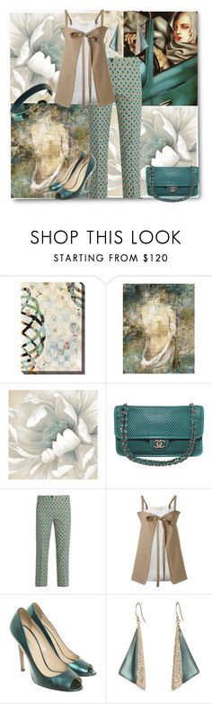 """The Artful Outfit"" by ahapplet ❤ liked on Polyvore featuring Home Decorators Collection, Ballard Designs, Chanel, Weekend Max Mara, Marni, Prada, Alexis Bittar, teal and ahapplet"