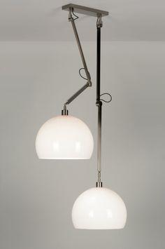 Hanglamp 30506: Modern, Design, Kunststof, Staal