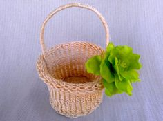 Flower Girl Basket Chartreuse Blossom and Hand by HotCocoaDesign, $25.00