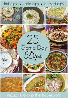 Game Day Dip Recipes - Reasons To Skip The Housework