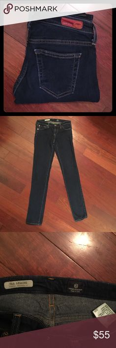 """AG Adriano Goldschmied. Size: 25R. AG Adriano Goldschmied. Size: 25R. Style: The Legging. Super Skinny Fit. Inseam: 31"""". Jeans are manufactured amazingly soft but feel some slight wear in the butt. Pre-loved but so much love to give! AG Adriano Goldschmied Jeans Skinny"""