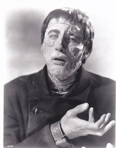 Christopher Lee as the creature in Curse Of Frankenstein (1957)