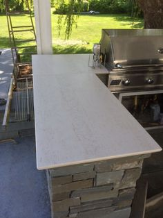 Dekton outdoor grill. Dekton is another Ultra Compact Surface (much like Neolith) that functions flawlessly outdoors.