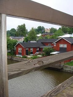 Porvoo, Finland Baltic Cruise, Scandinavian Home, Cabin, Vacation, Mansions, House Styles, Places, Travel, Finland