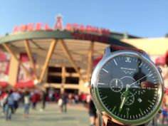 The Classic on the way to watch a battle for the #alwildcard.  #wingmanwatches #wheresyourwingman #customwatch #angels