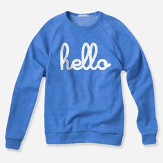 I want this Hello (Adult) Blue Champ Pullover from Hello Apparel (via @hellomerch)