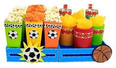 Despachador de dulces para fiestas infantiles. Manualidades para barra de dulces. Bolsas de palomitas