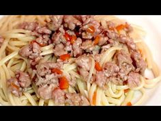 Ezzel a recepttel meghódítja a világot ... és családját! Nagyon könnyű és finom! # 385 - YouTube Noodle Recipes, Pasta Recipes, Spaghetti, Pasta Noodles, Beef Dishes, Ground Beef, Italian Recipes, Food To Make, Chicken