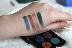 Swatches of the  Puro BIO Cosmetics Fallen Tones / Colori Moda Eyeshadow Palette