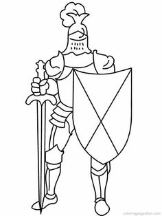 Knight In Armor On A Horse Color Page Fantasy Medieval Coloring Coloring For Kids 32025 Medieval Party, Medieval Castle, Knight In Shining Armor, Knight Armor, Free Coloring Pages, Coloring Books, Castle Clipart, Castle Crafts, Knight Party