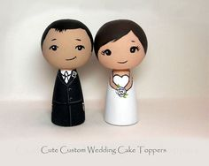Cute Custom Wedding Cake Toppers by licoricewits on Etsy, $64.00