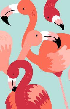 Animals on Behance Cute Wallpapers, Wallpaper Backgrounds, Animal Wallpaper, Wallpaper Art, Posca Art, Apple Watch Wallpaper, Flamingo Art, Aesthetic Iphone Wallpaper, Geometric Art