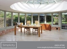 This architecturally impressive space has a 9m run of Curved bi-fold Sliding doors with a radius of 3.3m. This UK based company is unique and used by architects regularly.