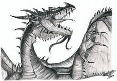 Pencil Drawings of Western Dragon, Amazing Pencil Drawings, http://hative.com/50-amazing-pencil-drawings/,