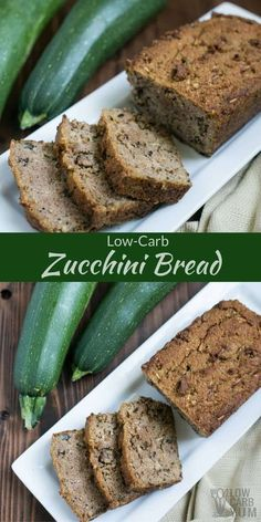 Are you still looking for the perfect low carb zucchini bread? Look no further. This recipe beats all the other ones I've tried and it's gluten free! via @lowcarbyum Keto Foods, Ketogenic Recipes, Ketogenic Diet, Gluten Free Foods, Dukan Diet, Paleo Meals, Paleo Food, Veggie Food, Paleo Diet