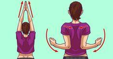 İşte otur, otobüste otur, evde otur derken tüm hayatımız oturarak geçiyor. Otururken boş durmayıp, bir de bilgisayar, televizyon veya telefon ekranına bakıyoruz. Tüm gün buna maruz kalan vücudunuzda sorunlar çıkmaya başlar. Bu sorunlardan başlıcaları, boyun problemleridir. Özellikle sertleşme ve tut Fix Rounded Shoulders, Double Menton, Shoulder Tension, Yoga Training, Stiff Neck, Relieve Back Pain, Arm Muscles, Lunge, Muscle Spasms