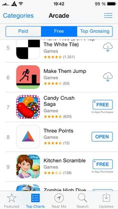 Three Points Directly behind Candy Crush! 9 Game, I Am Game, Disney Kitchen, Free Games, Arcade, Crushes, Candy, App, Projects