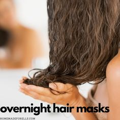 Are you looking for recipes to try to find the perfect overnight hair mask? You don't want to miss out on these! Simple to make at home!