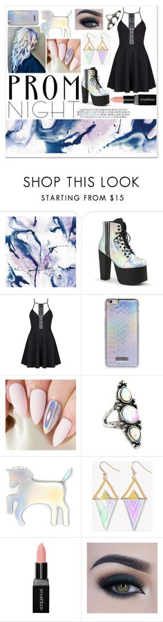 """""""♡Holographic Prom Night♡"""" by taguilar122 ❤ liked on Polyvore featuring WALL, DuÅ¡an, Accessorize, WithChic, Smashbox and Too Faced Cosmetics"""