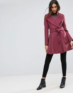 beautiful burgundy coat