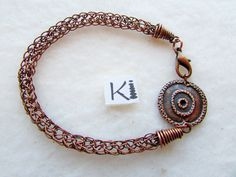 Copper Viking Knit Bracelet Copper Viking Weave Bracelet Handmade Knit Bracelet, Woven Bracelets, Handmade Bracelets, Handmade Jewelry, Wire Wrapped Rings, Wire Wrapped Pendant, Rope Necklace, Wire Earrings, Copper Jewelry
