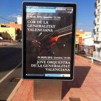 Publicidad mupis – Cor de la Comunitat Valenciana