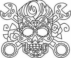 Calavera sugar skull colouring in